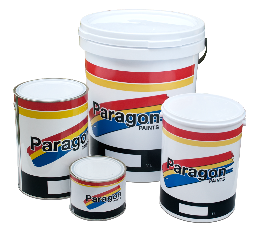 Paragon Paint comes in 1Lt, 5Lt and 20Lt containers